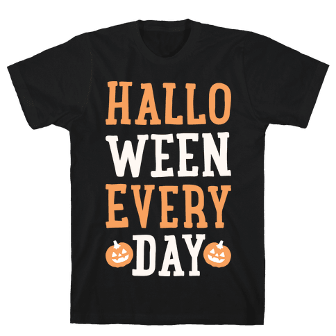 Halloween Every Day (White) Mens T-Shirt