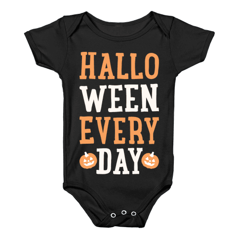 Halloween Every Day (White) Baby Onesy