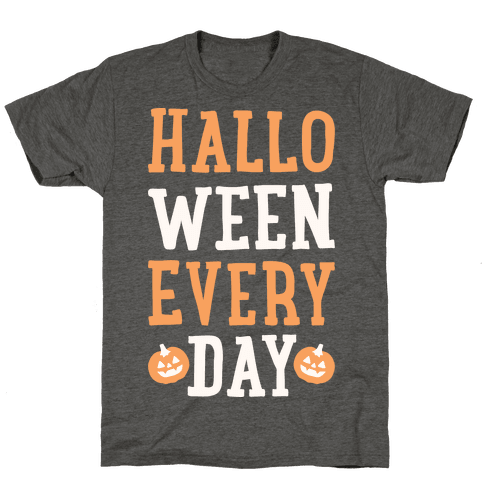 Halloween Every Day (White) Mens/Unisex T-Shirt