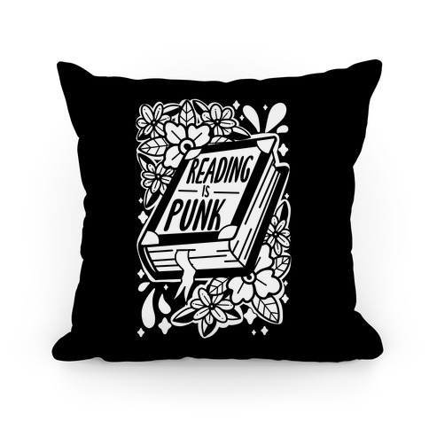 Reading Is Punk Book Pillow