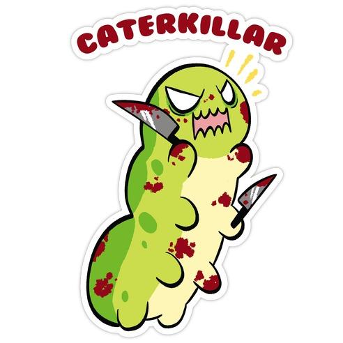 Caterkillar Die Cut Sticker