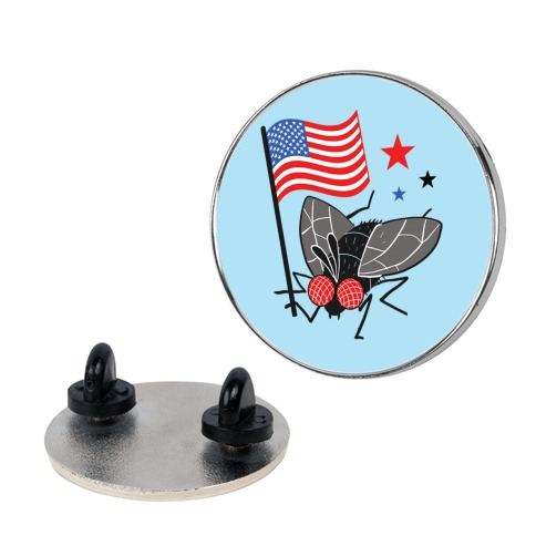 Flies For Freedom Pin