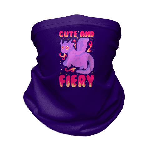 Cute and Fiery Dragon Neck Gaiter