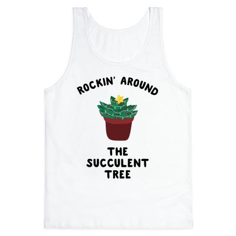 Rockin' Around the Succulent Tree Tank Top
