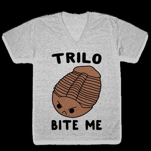 Trilo-Bite Me V-Neck Tee Shirt