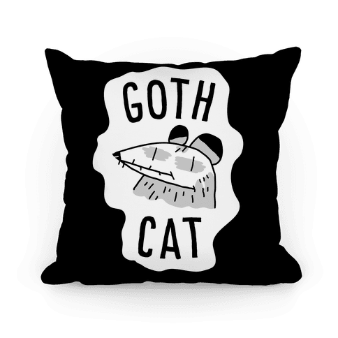 Goth Cat Pillow