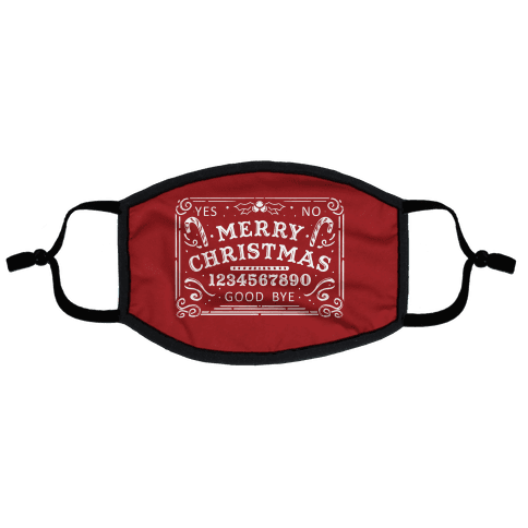 Merry Christmas Ouija Flat Face Mask