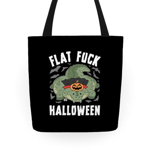 Flat F*** Halloween Tote