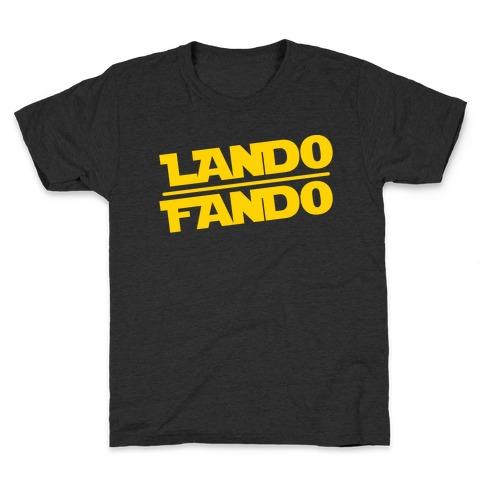 Lando Fando Parody White Print Kids T-Shirt