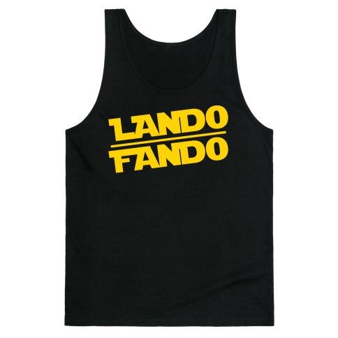Lando Fando Parody White Print Tank Top