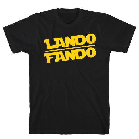 Lando Fando Parody White Print T-Shirt
