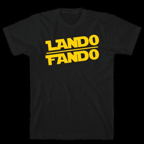 Lando Fando Parody White Print Mens T-Shirt