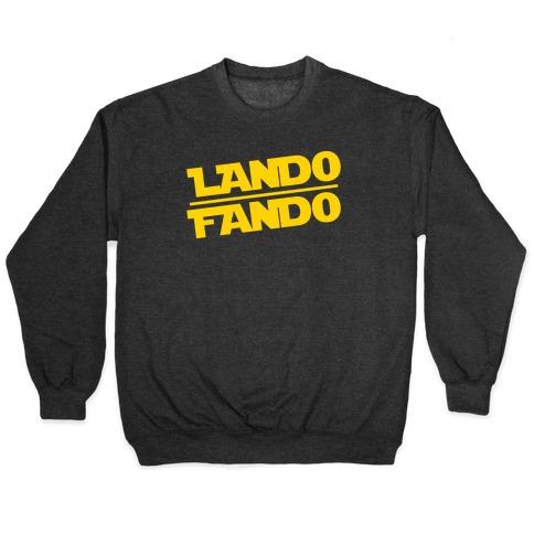 Lando Fando Parody White Print Pullover