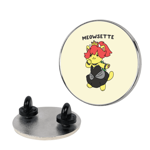 Meowsette pin