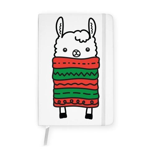 Long Llama Scarf Notebook