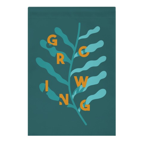 Growing Plant Frond Garden Flag