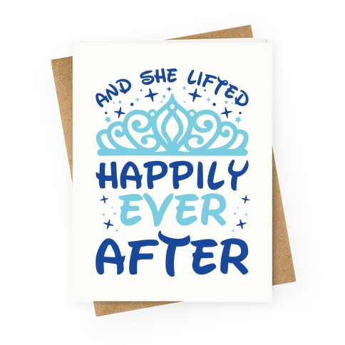 And She Lifted Happily Ever After Greeting Card