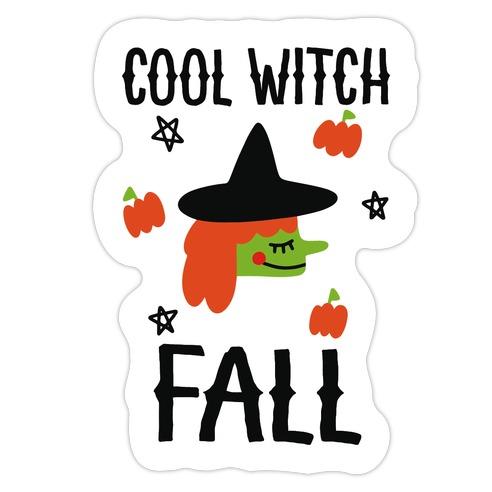 Cool Witch Fall Die Cut Sticker
