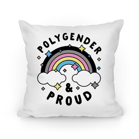 Polygender And Proud Pillow
