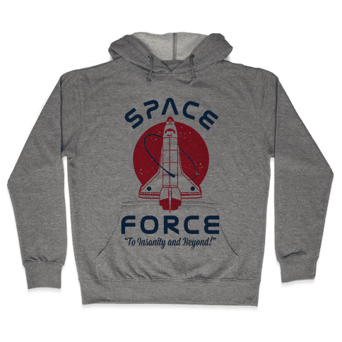 Space Force To Insanity and Beyond Hooded Sweatshirt