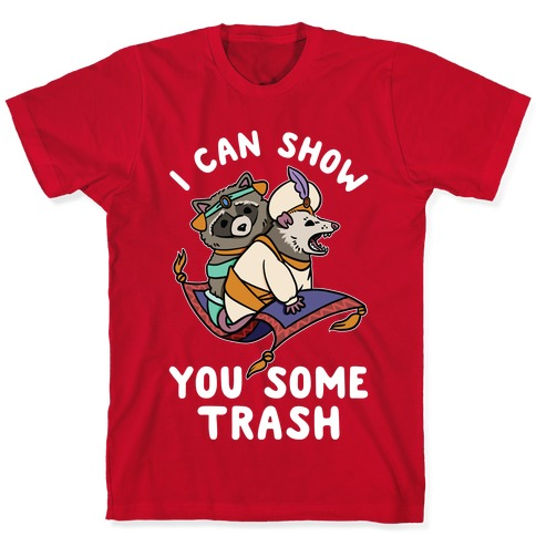 I Can Show You Some Trash Racoon Possum Pin