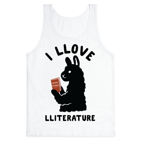 I Llove Lliterature Tank Top