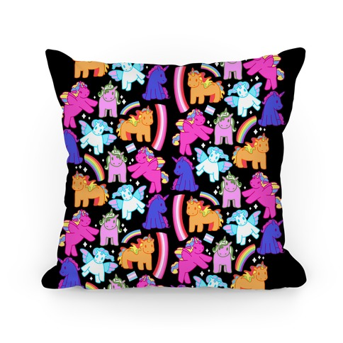 LGBTQ Unicorns Pattern Pillow