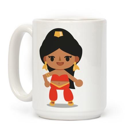 Princess Crossing Jasmine Parody Red Coffee Mug