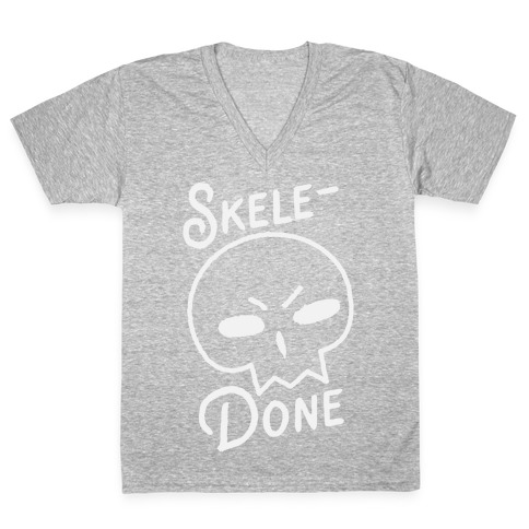 Skele-Done V-Neck Tee Shirt