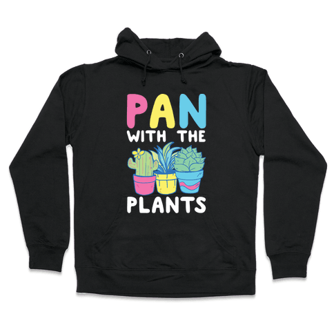 Pan with the Plants Hooded Sweatshirt