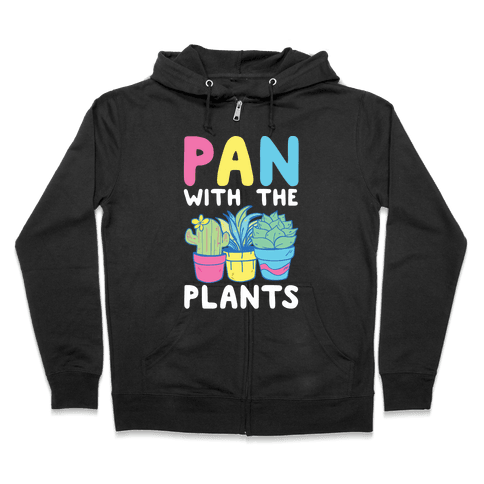 Pan with the Plants Zip Hoodie