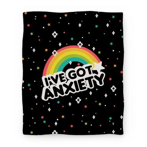 I've Got Anxiety Rainbow Blanket