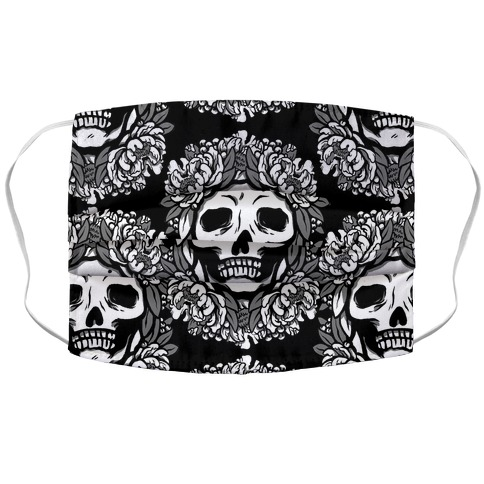 Floral Skulls Pattern Face Mask Cover