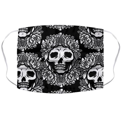 Floral Skulls Pattern Face Mask Cover