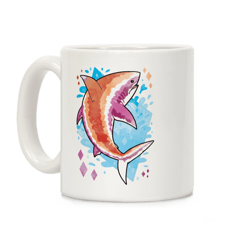 Pride Sharks: Lesbian Coffee Mug