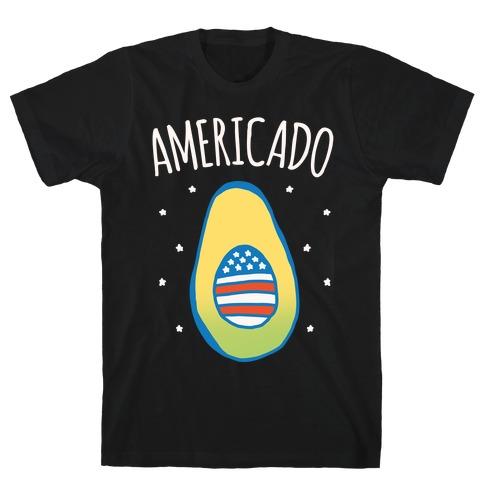 Americado Parody White Print T-Shirt