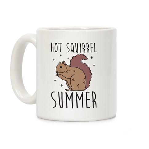 Hot Squirrel Summer Coffee Mug