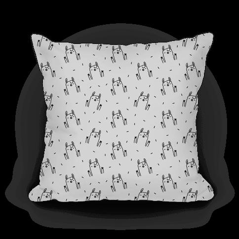 Sassy Llama Pattern Pillow