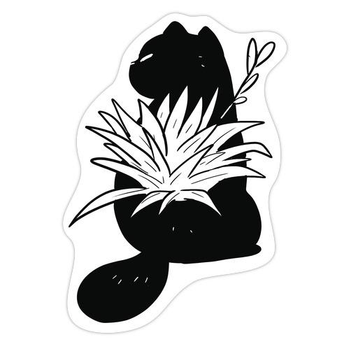 Succulent Cats Haworthia Die Cut Sticker