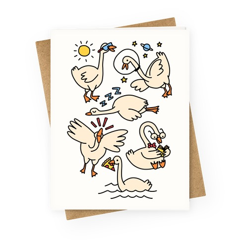 Silly Goose Studies Greeting Card