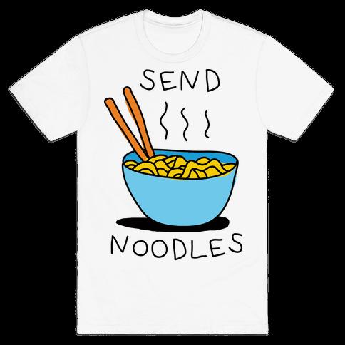 Send Noodles Mens T-Shirt