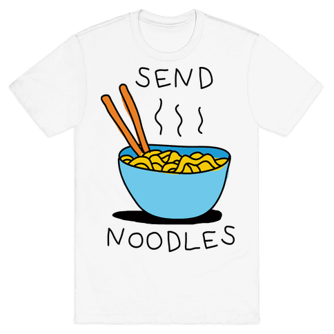 Send Noodles Mens T-Shirt