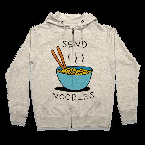 Send Noodles Zip Hoodie