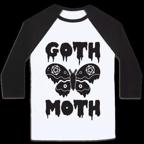Goth Moth Baseball Tee