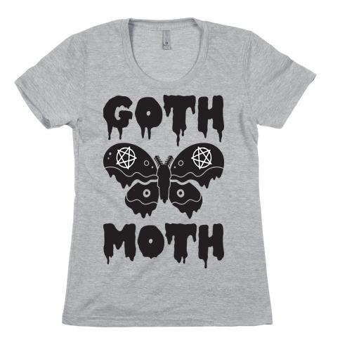 Goth Moth Womens T-Shirt