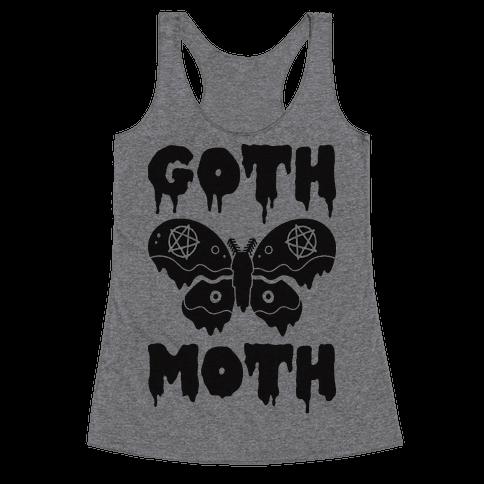 Goth Moth Racerback Tank Top