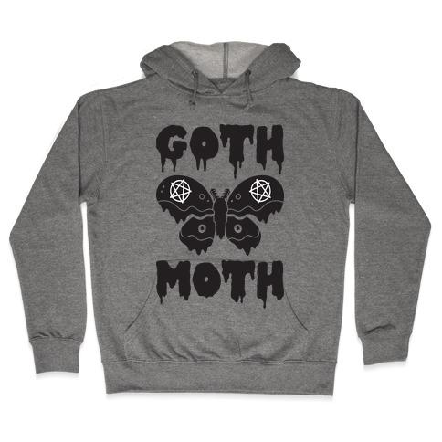 Goth Moth Hooded Sweatshirt