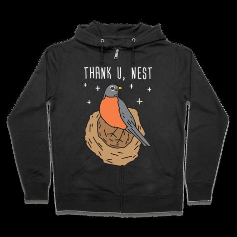 Thank U, Nest - Bird Zip Hoodie