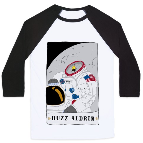 Buzz Aldrin Bee Baseball Tee
