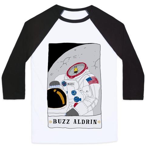 Buzz Aldrin Bee Baseball Tee